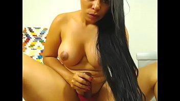 Chubby Latina sex webcam show