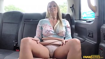 Bigtits Milf Sasha Steele enjoys cowgirl in a taxi