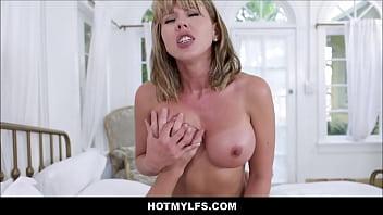 Horny Blonde MILF Seduces Neighbor Boy Working For Husband
