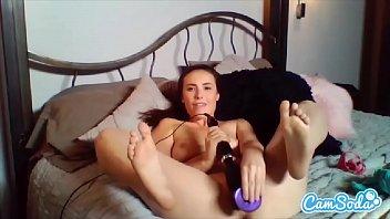 Casey Calvert big ass masturbating with multiple toys - until wet vagina