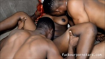 Chiboy and his monster dick visits his girlfriend katrina who loves big dicks and ends up fucking her juicy hole with his neighbour who joins them with his thick dick (Full video on RED)....Subscribe to watch