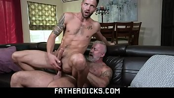 Horny mature grandpa and hot grandson gay sex-FATHERDICKS.COM