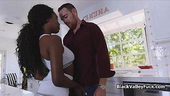 Banging black big tit tennis chick