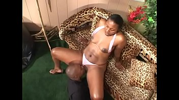 Horny ebony gal X-Rated with natural tits gets her tight cunt banged hard by a black dick Thumb