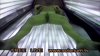 Horny Blonde Milf Masturbated on tanning bed in real Public Tanning Salon. Reallifecam on the Solarium, 20 Real Hidden Webcam and Spy Camera under the tanning bed.