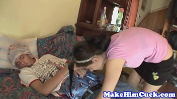 Cuckolding girlfriend humiliates cheating bf