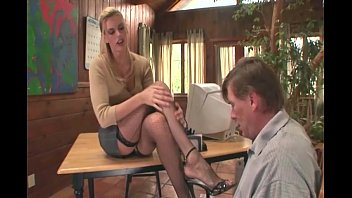 Peacoat fetish - Therapist footsex with a patient with foot fetish