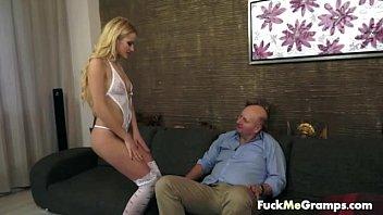 Cute blonde hottie for grandpa