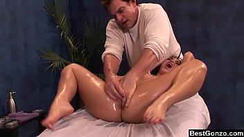 BestGonzo - Teen is slippery wet after erotic oil massage. porno izle