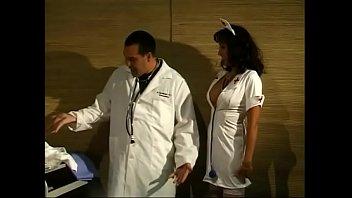 Lucky doctor bangs hot MILF nurse Katrina Spanks on a hospital bed