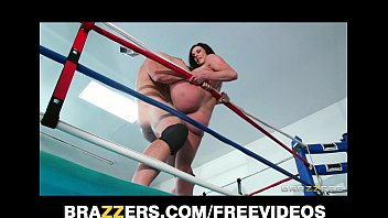Image: Big tit Kendra Lust fucks a wrestling champion in the ring
