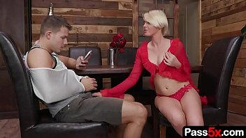 Naughty step mom tries to seduces her step son by wearing sexy lingerie