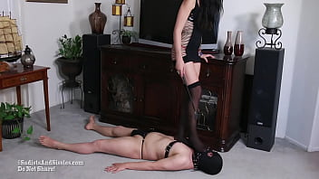 Sadists Mistress Playing Games; Sub Whore Who Cries Getting Trampled Cbt Kicked