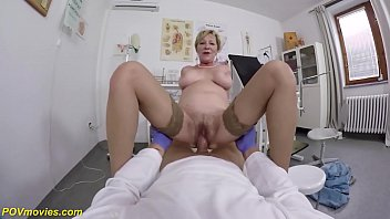 Granny fucks son movies - Hairy 71 years old mom brutal pov fucked by her doctor