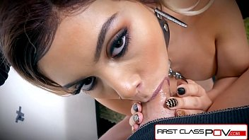FirstClassPOV - Aaliyah Hadid take a monster cock in her throat, big boobs