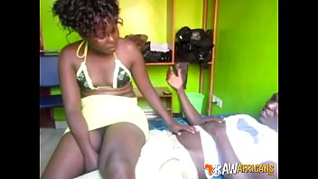 Real ghetto Africans get frisky in the shower3-5m-1