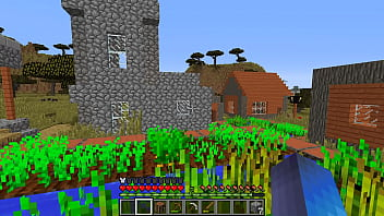 Minecraft play  found a village and walked aro  and walked around it a little