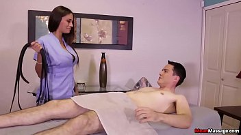 Femdom cock punishment Mean-super hot brunette punishes a poor man