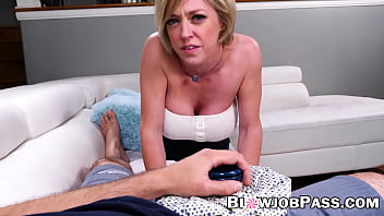 Nurse MILF Dee Williams drools while sucking massive dick