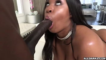 Gorgeous ebony babe Aryana Adin shows her big sexy ass ready for a wild ANAL fucking session with black dude Jax Slayher.