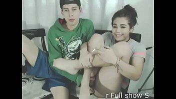 Teen shemale gets blowjob on webcam