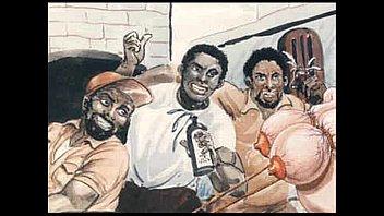 Slaves in bondage bdsm cartoon art thumbnail