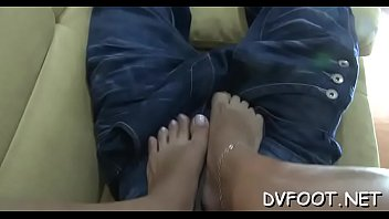 Sexy foot fetisj with a sexy girl smashing a face with feet