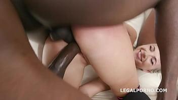 7on1 BBC, DAP Gangbang Kristy Black gets Balls Deep Anal, DAP, Gapes, Creampie swallow & Facial GIO981