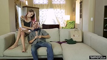 Shemale teen Freya Wynn analyzed by perverted stepdad