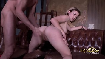 Blonde Skinny Teenage Russian Fucked hard and swallow cum