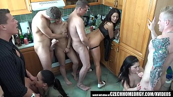 Grupen Uncensored Home Sex in Kitchen