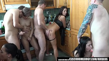 Grupen Uncensored Home Sex in Kitchen