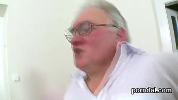 Fervent schoolgirl is teased and banged by her elderly mentor