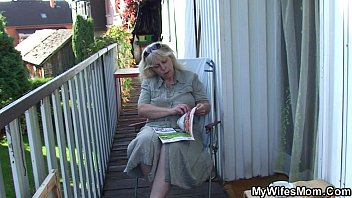 Fucking old mother in law outside porn image
