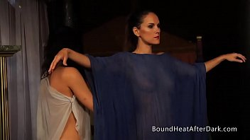 Slaves Of Desire: Dominant Lesbian Massage In Hot Threesome