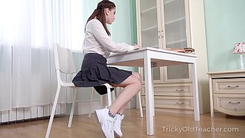 Tricky Old Teacher - Old teacher makes sexy student a spicy offer