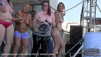 Biker rally babes get pussy shaved Big twins saturday contest at abate algona iowa biker rally