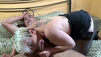 Mature Blonde in Stockings loves Anal Sex