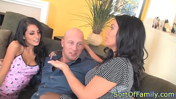 Bigtitted cougarmama riding dick in threesome