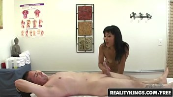 RealityKings - Happy Tugs - Asian masseuse riding on spycam in parlor - Yummy Mori