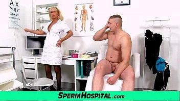 Aged Uniform Lady Doctor Koko Young Boy Cfnm Handjob At Clinic