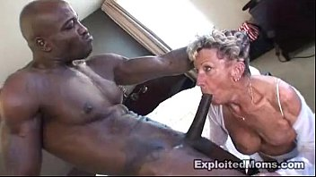 Old Granny takes a big black cock in her ass An...