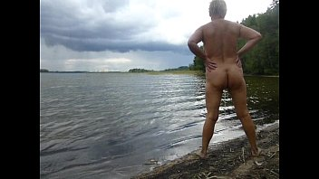 Stand Up Pee At Lake