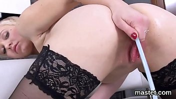 Unusual czech chick gapes her tight pussy to the special
