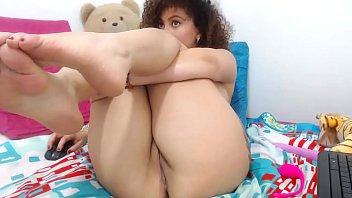 Anal and vaginal masturbation of ebony
