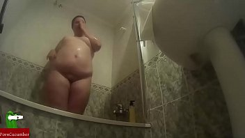 Sex in the shower with horny fat woman CRI210