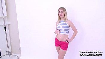 Blonde Teen fucked at photoshoot audition