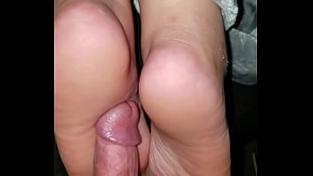 Cumming on wife's feet #41