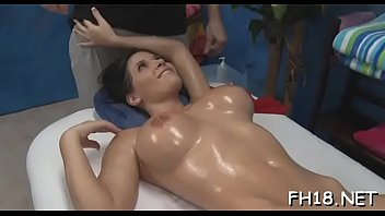 Very sexy 18 year old gorgeous gets screwed hard from behind by her massage therapist