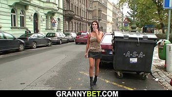 80 years old blonde prostitute rides his horny cock 6 min